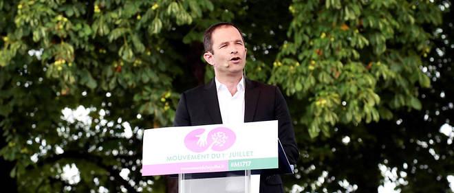 Beenoît Hamon, à Reuilly le 1er juillet pour le lancement du Mouvement du 1er juillet.