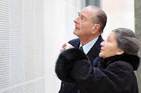 Avec Jacques Chirac, lors de l'inauguration du Memorial de la Shoah a Paris, le 25 janvier 2005.   (C)JACQUES BRINON