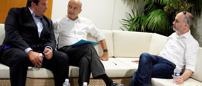 Recomposition. Thierry Solère, Alain Juppé et Gilles Boyer, en septembre 2016.
