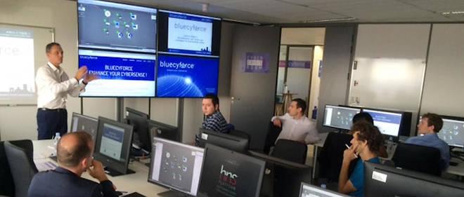 Bluecyforce est un groupement d'intérêt économique entre deux entreprises spécialisées en sécurité numérique : CEIS et DataTeam.