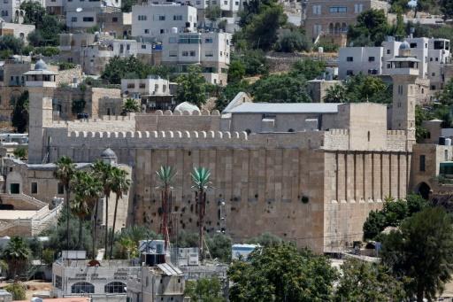 Vue générale du Tombeau des Patriarches, également appelé Mosquée d'Ibrahim, le 29 juin 2017 à Hébron © HAZEM BADER AFP/Archives