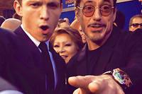 Spider-Man et Iron Man ensemble... avec, au poignet de Robert Downey Jr., une étonnante montre Urwerk.