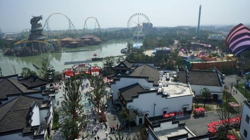 Un parc d'attraction détenu par le conglomérat Wanda, à Hefei en Chine, le 24 septembre 2016 © STR AFP/Archives