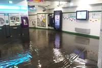Le métro parisien inondé, le dimanche 9 juillet 2017.  ©Twitter
