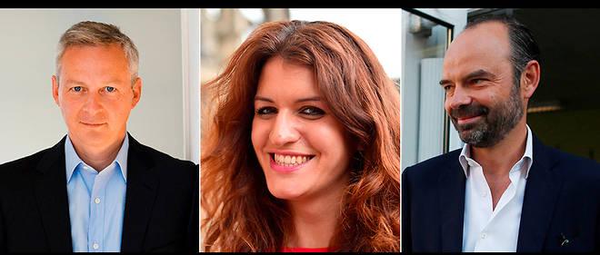 Bruno Le Maire, Marlène Schiappa et Édouard Philippe, les romanciers du gouvernement