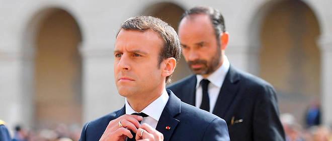 Pacte. Emmanuel Macron et Édouard Philippe dans la cour des Invalides, le 5juillet, lors de l'hommage national à Simone Veil, disparue le 30juin.