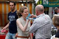 L'altercation entre Nathalie Kosciusko-Morizet et Vincent Debraize a eu lieu le 15 juin sur le marché de la place Maubert dans le 5e arrondissement de Paris. ©GEOFFROY VAN DER HASSELT