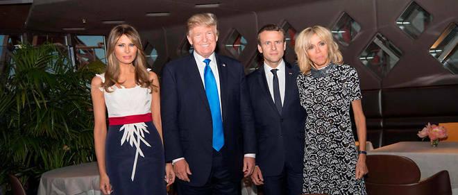 Les deux couples ont dîné au Jules Verne.