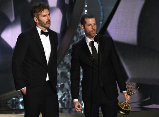 David Benioff et D.B. Weiss lors de la 68e remise des Emmy Awards le 18 septembre 2016 à Los Angeles  © Valerie MACON AFP/Archives