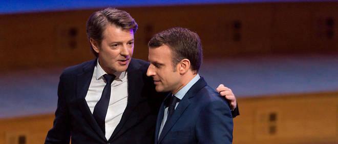 François Baroin, président de l'Association des maires de France, ici avec le président de la République Emmanuel Macron.