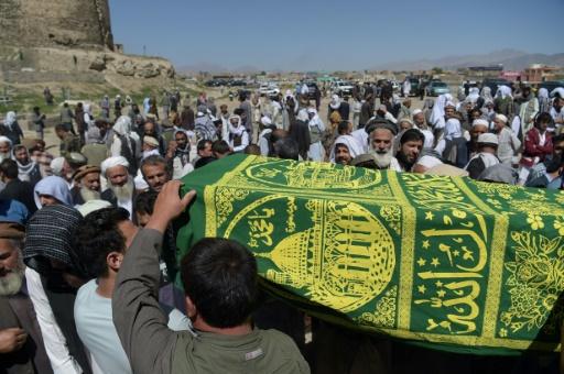 Funérailles d'une des victimes de l'attentat-suicide de Kaboul du 31 mai 2017 © SHAH MARAI AFP/Archives