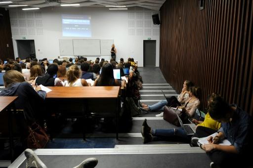 Cours de psychologie en amphi à l'Université Paul Valéry Montpellier 3 le 28 septembre 2015 © SYLVAIN THOMAS AFP/Archives