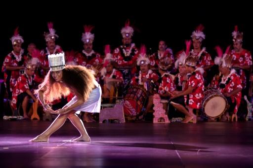 Le concours de danse du Heiva i Tahiti, grande fête culturelle des polynésiens, le 3 juillet 2015 à Papeete © ©Gregory Boissy AFP/Archives