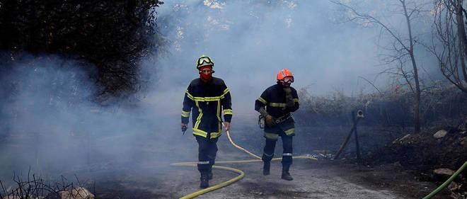 Les pompiers en action à Saint-Cannat.