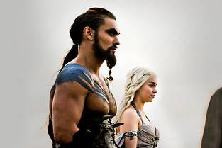 Khal Drogo et sa Khaleesi.