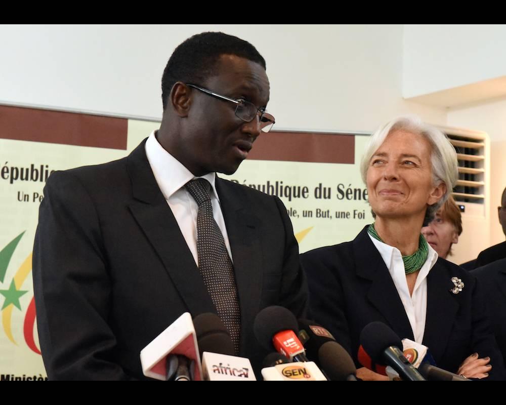 SENEGAL-IMF-LAGARDE ©  SEYLLOU / AFP