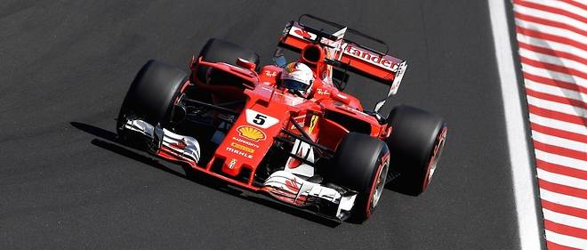 F1 Gp De Hongrie Vettel S Impose Ferrari Fait Coup Double