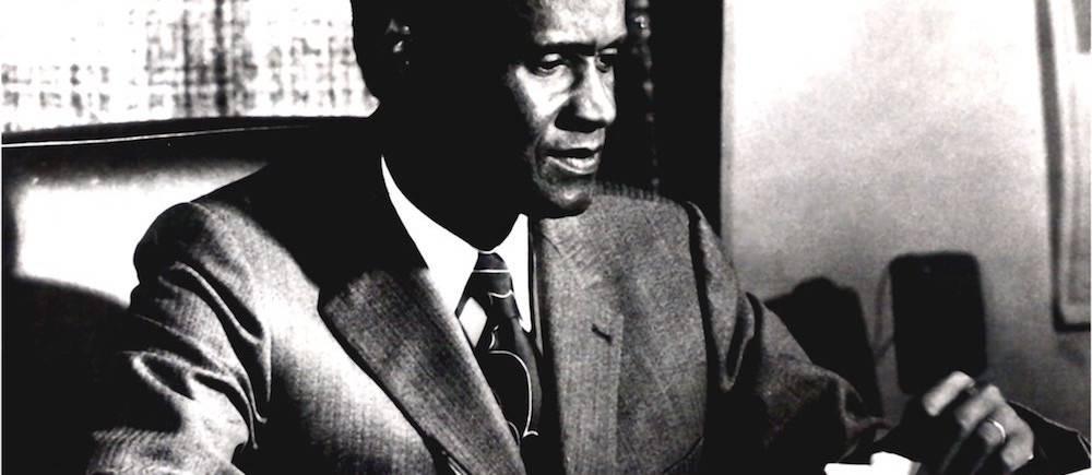"""Alioune Diop, que Léopold Sédar Senghor avait surnommé """"le Socrate noir"""", est mort à 70 ans à Paris en mai 1980. ©  Présence africaine"""
