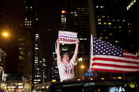 Partisan de Donald Trump à New York.   ©Alex Wroblewski / Reuters