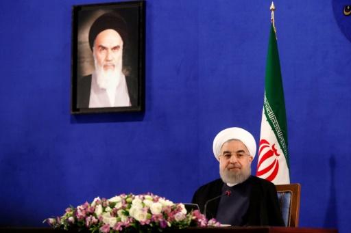 Le président iranien Hassan Rohani le 22 mai 2017 à Téhéran © ATTA KENARE AFP/Archives