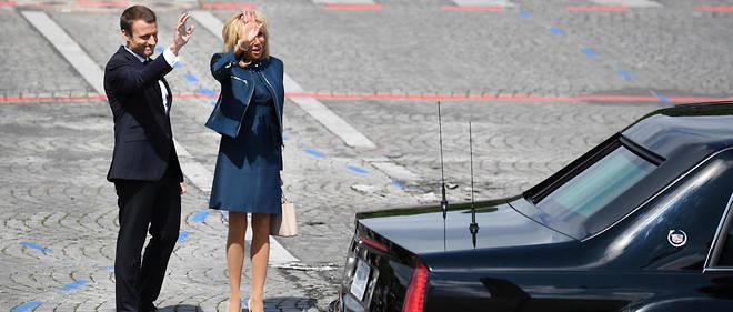 Brigitte Macron lors du défilé du 14 Juillet.