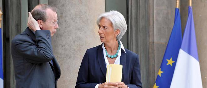 """Christine Lagardeet Michel Pébereau étaient respectivementministre de l'Économie etprésident de BNP Paribas au moment de la crise des """"subprimes""""."""