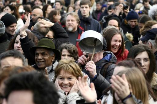 Une manifestation à Paris, place de la République, le 5 mars 2017 © Martin BUREAU AFP/Archives