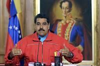 Le président vénézuélien Nicolás Maduro durant une conférence de presse à Caracas, le 7 décembre 2015.