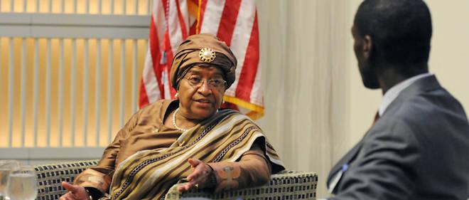 Ellen Johnson Sirleaf, présidente de la République du Liberia et première femme élue au suffrage universel à la tête d'un État africain.