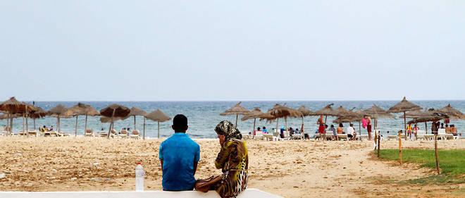 Une plage à Hammamet en 2015. À part les Français, les touristes étrangers ont fui.