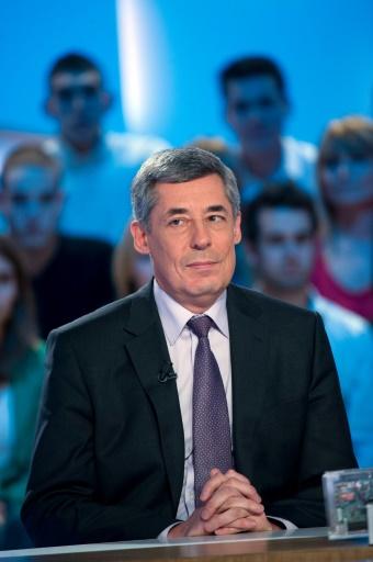 Henri Guaino (LR), le 28 février 2012 sur le plateau d'une émission de Canal+ à Paris  © BERTRAND LANGLOIS AFP/Archives