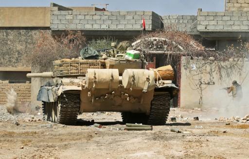 Un char des forces irakiennes à Tal Afar, en Irak, le 23 août 2017 © AHMAD AL-RUBAYE AFP