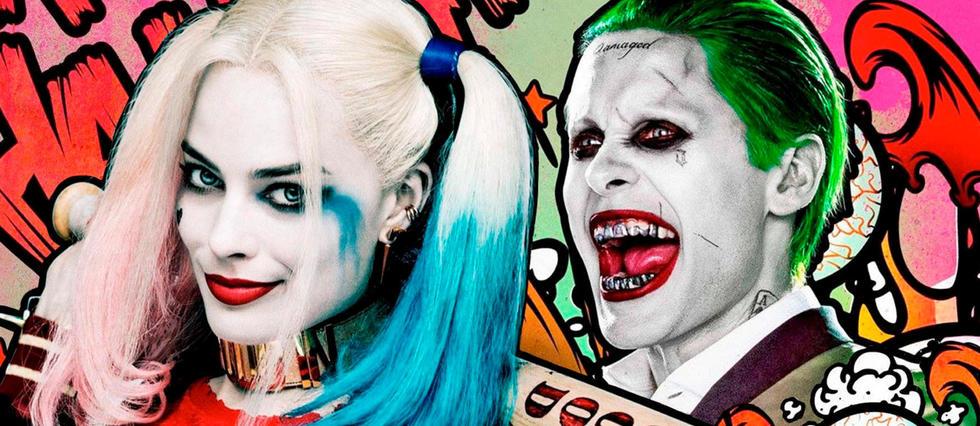 """Le Joker et Harley Quinn dans """"Suicide Squad""""."""
