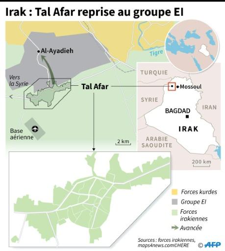Irak : Tal Afar reprise au groupe EI © Simon MALFATTO AFP