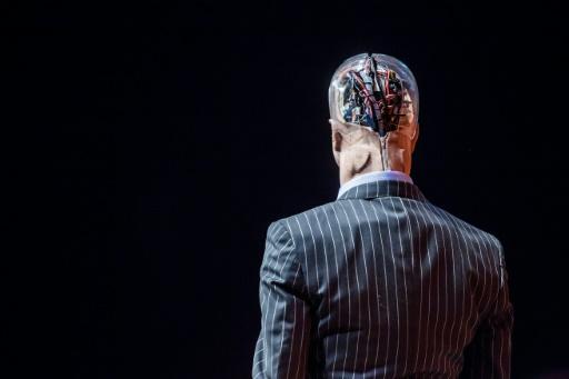 Un robot exposé pendant une conférence sur l'intelligence artificielle à Hong Kong, le 12 juillet 2017 © ISAAC LAWRENCE AFP/Archives