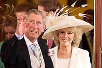 Le9 avril 2005, le prince Charles épouse (enfin !) son amour de toujours, Camilla, qui devient duchesse de Cornouailles. ©Rex Features/REX/SIPA