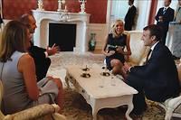 Les époux Macron avec le président de la Bulgarie et sa femme.