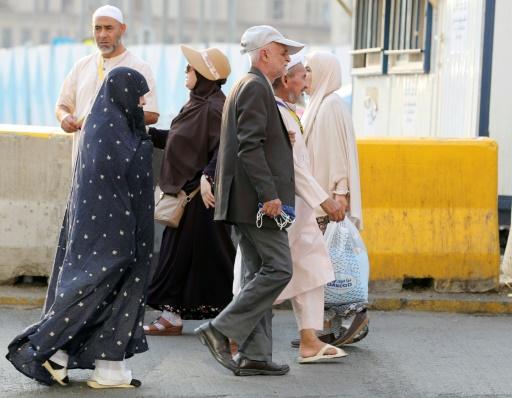 Des pèlerins iraniens se dirigent vers la Grande Mosquée à La Mecque le 29 août 2017 © KARIM SAHIB AFP/Archives