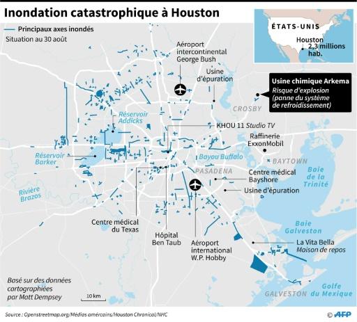 Inondation catastrophique à Houston © Laurence CHU AFP
