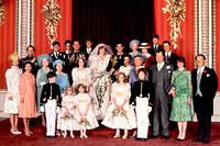 La photo officielle du mariage de Charles et Diana le 29 juillet 1981. ©-