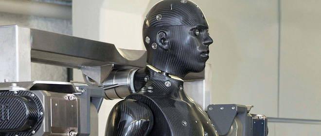 """""""Porton Man"""", le fantassin du futur au Laboratoire britannique des sciences et technologies de la défense."""