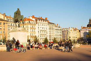 La place Bellecour à Lyon  (C)Photo Patrice Coppee
