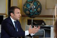 Emmanuel Macron photographié à l'Élysée le 23 août 2017.