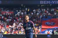 Neymar lors de sa présentation le 5 août 2017. ©ALAIN JOCARD