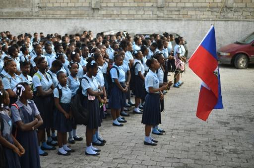 Rentrée des classes à Port-au-Prince, le 4 septembre 2017 © HECTOR RETAMAL AFP