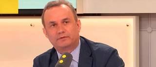 Bruno Roger-Petit, ancien éditorialiste pour le magazine «Challenges», ici sur Franceinfo en mai 2017, est lenouveau porte-parole de la présidence de la République.