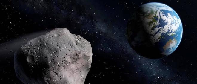 """Un astéroïde de 4,5 km de diamètre """"a frôlé"""" la Terre le 1er septembre (photo d'illustration)."""