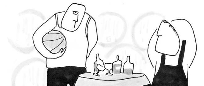 Dessin de Jean pour le spécial vins du Point