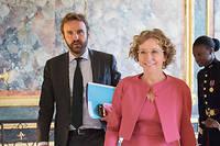 Muriel Pénicaud, ministre du Travail, et Antoine Foucher, directeur de cabinet. ©Eliot Blondet /ABACA