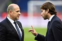 Antero Henrique et Maxwell, tandem fort de la direction sportive du PSG. ©FRANCK FIFE